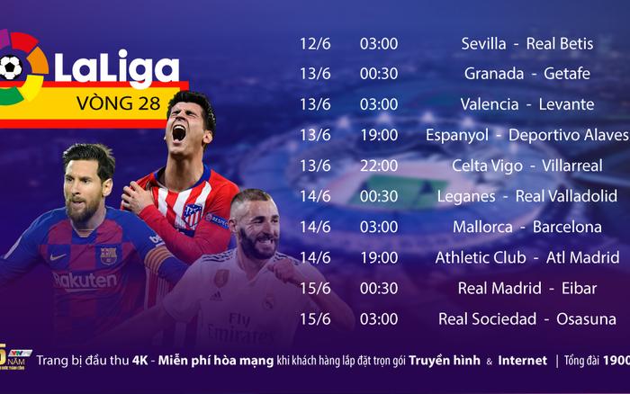 La Liga trở lại trọn vẹn trên VTVcab