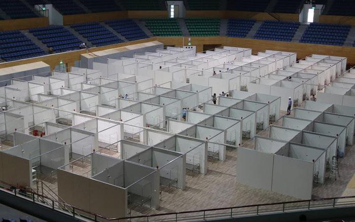 Cơ bản hoàn thành lắp đặt bệnh viện dã chiến tại Đà Nẵng