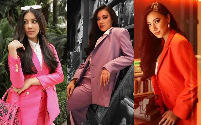 """Diện vest sắc màu """"hot trend"""" như Á hậu Kim Duyên"""