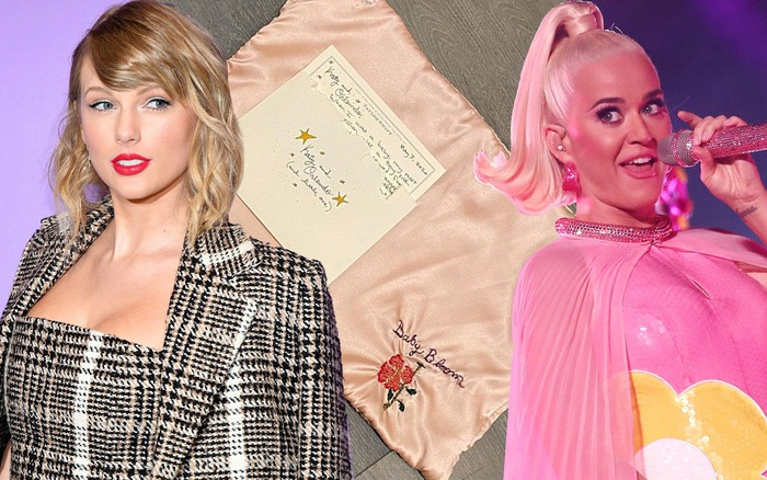 Katy Perry hạ sinh con đầu lòng, Taylor Swift gửi tặng khăn thêu tay