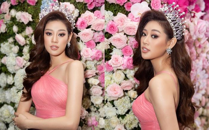 """Hoa hậu Khánh Vân xuất hiện rạng rỡ với vương miện """"trái tim dũng cảm"""""""