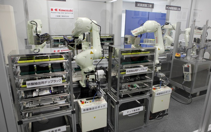 Robot hỗ trợ xét nghiệm COVID-19 tự động tại Nhật Bản