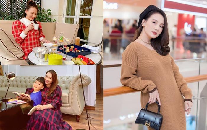 Ngắm gu thời trang tinh tế, nổi bật của bà bầu Bảo Thanh - mega 655