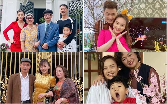 Bảo Thanh, Phương Oanh và dàn diễn viên xinh đẹp đồng loạt khoe ảnh bên gia đình ngày Tết