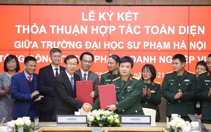 Viettel đồng hành cùng Đại học Sư phạm Hà Nội chuyển đổi số