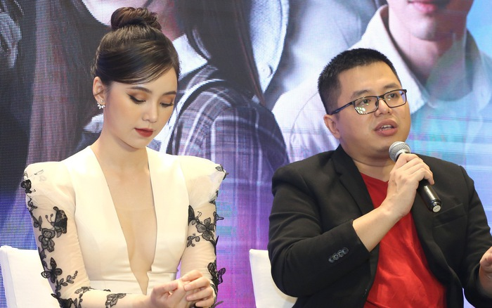 Quỳnh Kool diện váy xẻ sâu trong họp báo phim mới Hãy nói lời yêu