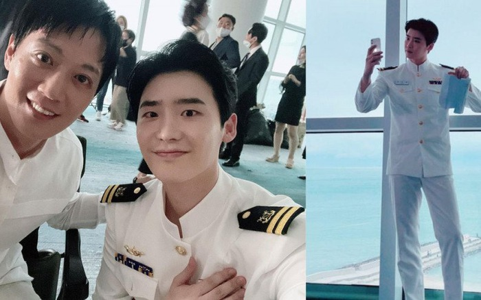 Lee Jong Suk khiến fan ngẩn ngơ khi diện quân phục