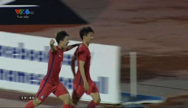Phút 41: Hwang Inbeom nâng tỷ số lên 2-1 cho U23 Hàn Quốc
