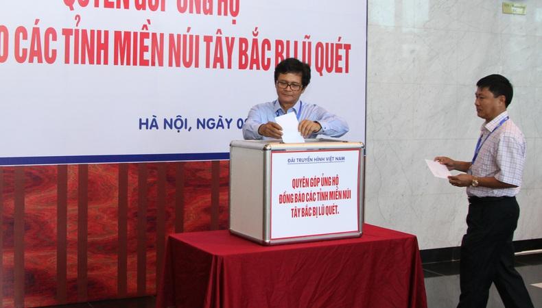Đài THVN tổ chức quyên góp ủng hộ đồng bào các tỉnh Tây Bắc