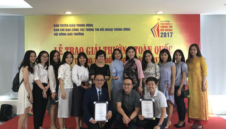 Đài THVN giành giải Nhất giải thưởng toàn quốc về thông tin đối ngoại 2017