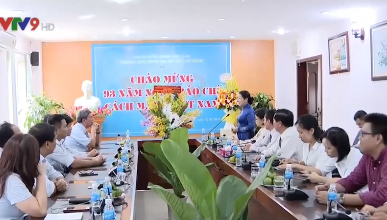 Lãnh đạo TP.HCM thăm kênh Truyền hình Quốc gia VTV9