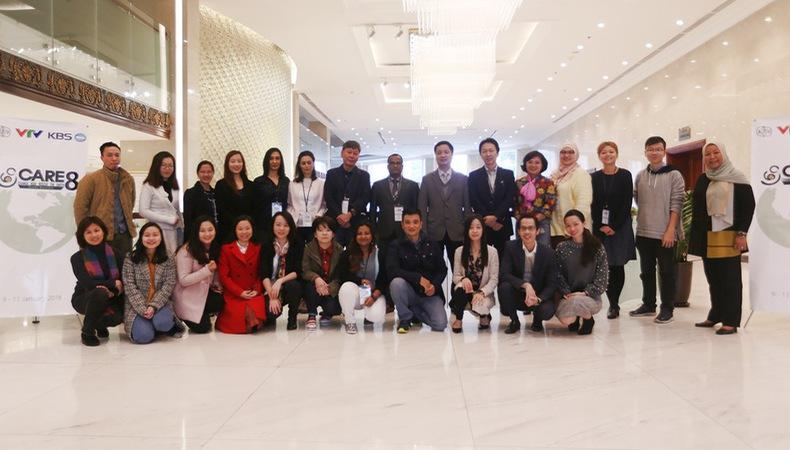 Đại diện 15 nước tham gia hội thảo Dự án đồng sản xuất phim tài liệu truyền hình CARE8 của ABU
