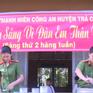Trà Vinh: Công an huyện Trà Cú tổ chức bữa sáng cho học trò nghèo
