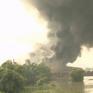 Cháy nhà máy gạch ngói Thạch Bàn tại Bắc Giang