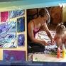 Cậu bé mắc tiểu đường vẽ tranh trị giá nghìn USD