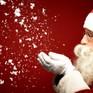 Ông già Noel gửi lời chúc Giáng sinh đến trẻ em