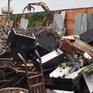 Cận cảnh kho rác thải ven biên giới