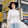 Angela Phương Trinh sành điệu trên đường phố Hàn Quốc