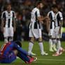 Chùm ảnh: Các cầu thủ Barcelona gục ngã nhìn Juventus vào bán kết