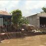 An Giang: Sạt lở làm 2 nhà dân chìm xuống sông