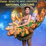"""Cận cảnh H'Hen Niê diện trang phục """"bánh mì"""" tới Miss Universe"""