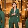 Người đẹp nhân ái Thùy Tiên khoe vẻ thời thượng với bộ suit xanh lá