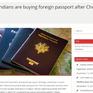 Làn sóng mua quốc tịch nước ngoài của người dân Ấn Độ