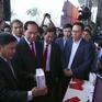 Chủ tịch nước Trần Đại Quang thăm gian hàng VTV tại Hội báo Toàn quốc 2018