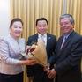Đại sứ Phạm Quang Vinh chúc Tết Đại sứ quán Lào