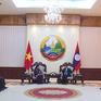 Phó Chủ tịch Quốc hội Tòng Thị Phóng hội kiến Chủ tịch nước Lào và Thủ tướng Lào