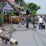 Lốc xoáy làm đổ hàng loạt trụ điện tại Bà Rịa - Vũng Tàu