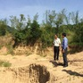 """Báo động tình trạng khai thác cát núi """"chui"""" ở An Giang"""