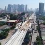 Lắp đặt ray tàu tuyến metro số 3 Hà Nội - Nhổn