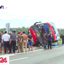 Xe khách lật nhào, nhiều người bị thương