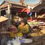 Sôi động chợ dịp cận Tết trên đảo Thổ Chu