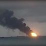 Nga điều tra vụ cháy 2 tàu trên eo biển Kerch