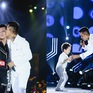 Tuấn Hưng hôn má Khắc Việt,  mang con trai Su Hào lên sân khấu