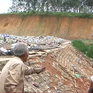 Bãi tập kết rác tại Bình Phước sạt lở nghiêm trọng