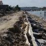 Kè sông 12 tỷ đồng chưa bàn giao đã bị hư hỏng nặng