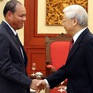 Tổng Bí thư, Chủ tịch nước Nguyễn Phú Trọng tiếp đoàn đại biểu cấp cao Bộ An ninh Lào 