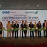 Khai trương 4 chặng bay mới từ Nghệ An