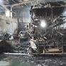 Cháy lớn garage tại Bình Dương, nhiều ô tô bị thiêu rụi