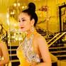 Hoa hậu Tuyết Nga mặc váy họa tiết phượng hoàng, hoa sen xuất hiện trên thảm đỏ LHP Cannes 2019