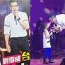 Ngọt lịm với hình hình ảnh Lưu Khải Uy hôn con gái trên sân khấu