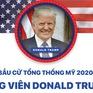 INFOGRAPHIC Bầu cử Tổng thống Mỹ 2020: Ứng viên Donald Trump