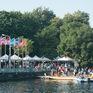Hơn 500 vận động viên sôi nổi so tài tại Lễ hội Bơi chải Thuyền rồng Hà Nội 2020