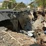 Đường Tắc Thủ - Vàm Đá Bạc tiếp tục bị sụt lún