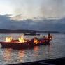 Tàu kéo bốc cháy trên sông Lòng Tàu, 4 người thoát chết