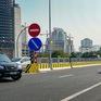 """Lái xe """"biển xanh"""" cố tình quay đầu tại nút giao Cầu Thăng Long - vành đai 3"""