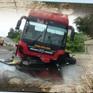 Xe khách nổ lốp trên quốc lộ, hàng chục hành khách thoát nạn